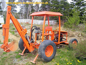 Homemade backhoe from Canada